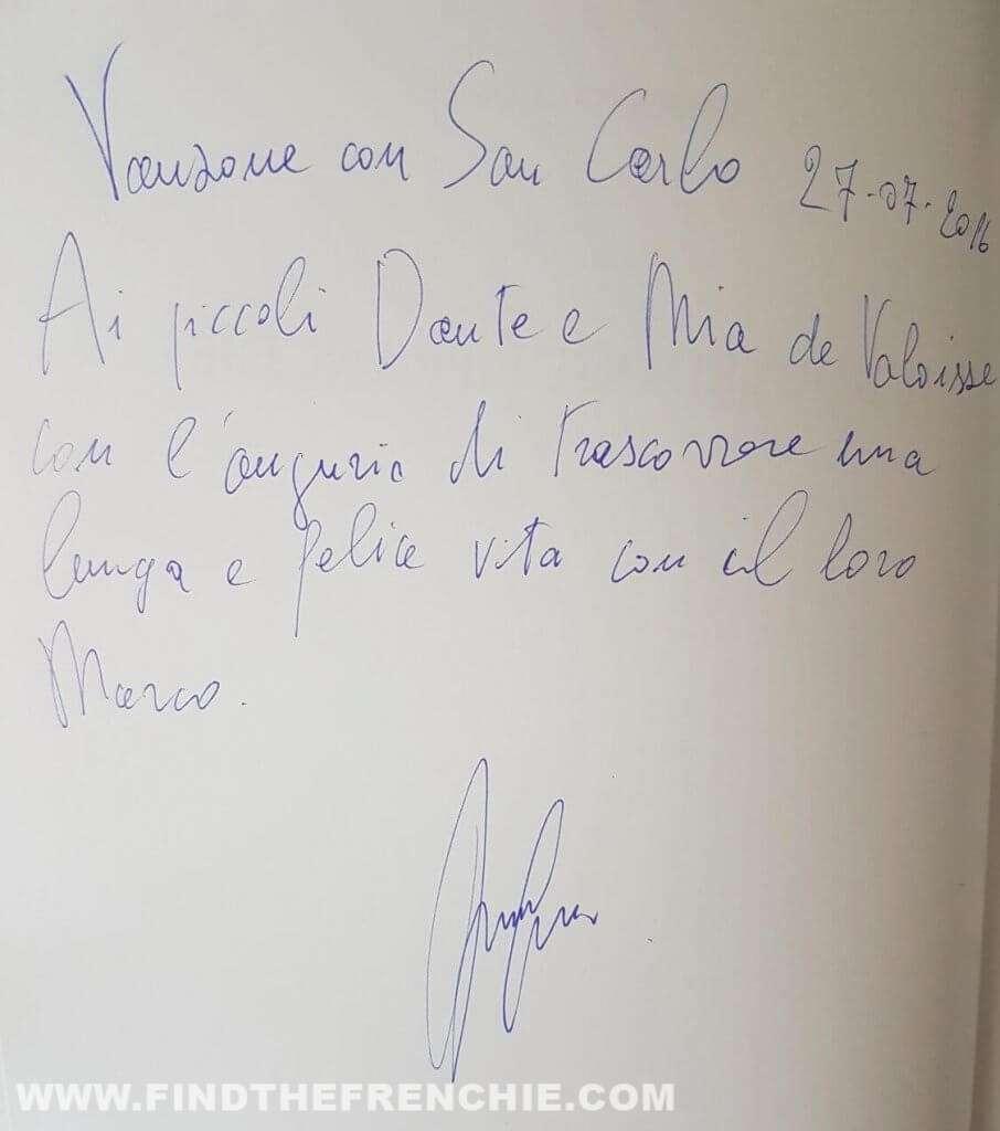 Il Bouledogue Francese - Umberto Cuomo - Dedica Dante e Mia Devaloisse