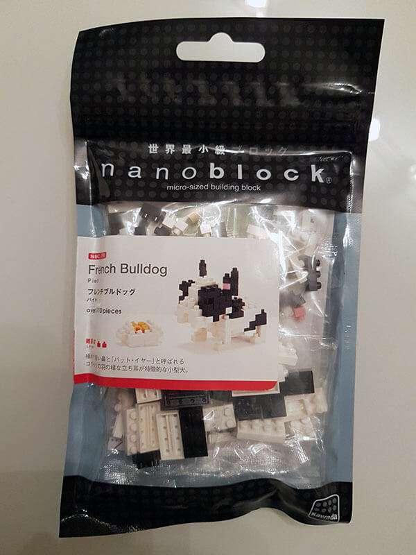 Bulldog Francese Nanoblock - La confezione