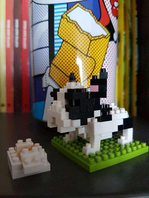 Bulldog Francese Nanoblock - Oggetto di arredo