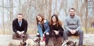 Allevamento degl'Inviciboule al completo: Daniele, Giulia, Paola e Matteo