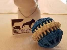 palla di gomma naturale per cani
