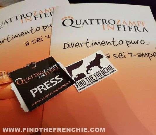 Quattro zampe in fiera Padova Press Badge Find the Frenchie