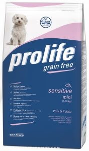 Prolife Grain Free sensitive mini Maiale e Patate