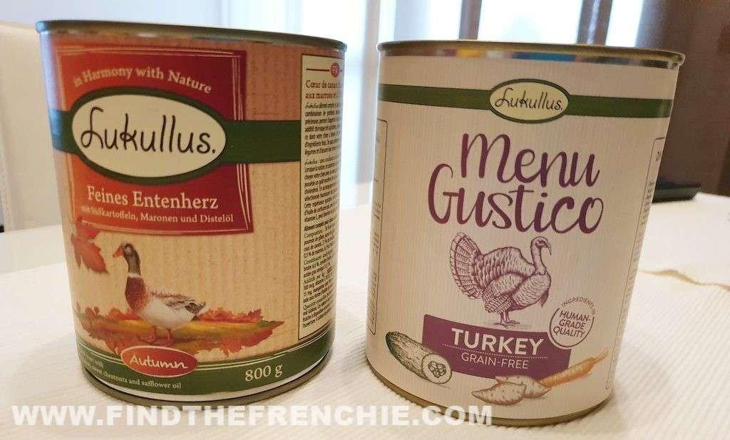 Lukullus cibo umido per cani - Menù Autunno e Menu Gustico Tacchino e Anatra - Find the Frenchie