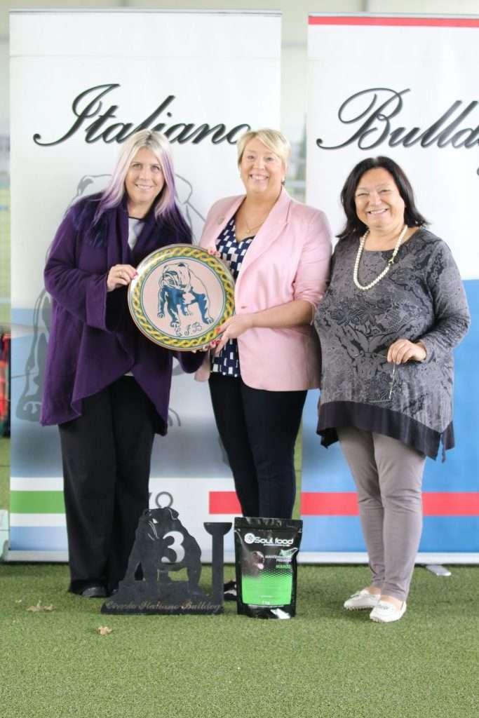 Campionato Sociale 2019 Bulldog Inglese Modena - Le Giudici - Mrs.Elizabeth Ugo Milam, Mrs Sonia Saxon, Marina Canestrale