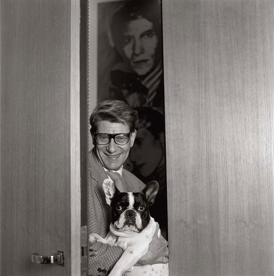 Yves Saint Laurent et Moujik, 1978 photo Martine Franck