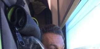 in treno con il cane